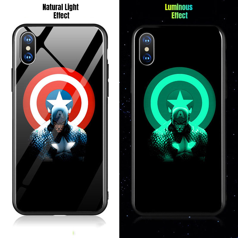 Captain America glowing phone case