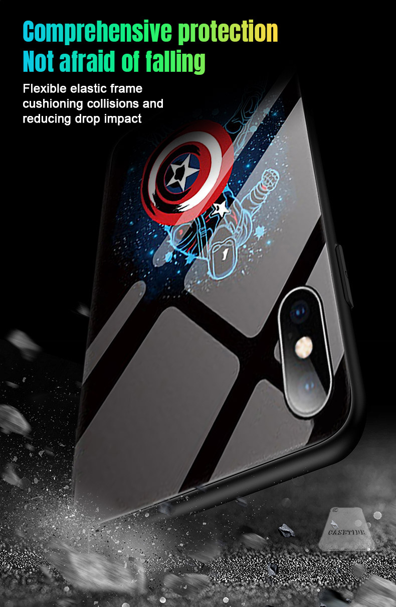 Light up cell phone case - Marvel Captain America best mobile cover