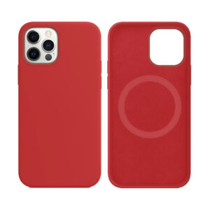 Apple Red iPhone 12 Mini MagSafe silicone case