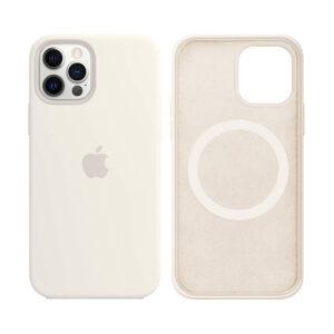 Apple White iPhone 12 Pro MagSafe silicone case